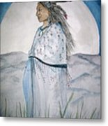 She Walks At Night Metal Print
