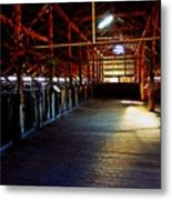Shearing Shed From A Bygone Era Metal Print