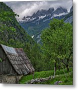 Shed In The Pass Metal Print