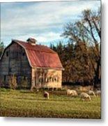 Sheep Farm Metal Print