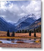 Sheep Lakes Autumn Metal Print