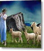 Sheep Whisperer Metal Print