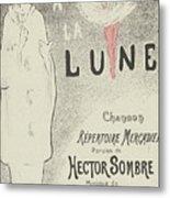 Sheet Music Aubade A La Lune Metal Print