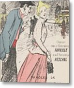 Sheet Music Dans Lxviiieme By Achille Bloch And Louis Byrec, Performed By Farville And Reschal Theo Metal Print