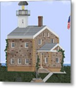 Sheffield Island Lighthouse Connecticut Metal Print