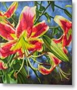 Sheherazade Lilies 1 Metal Print