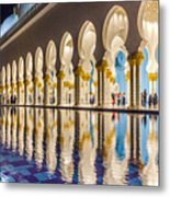 Sheikh Zayed Mosque Reflections Metal Print