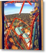 Sheikra Ride Poster 2 Metal Print