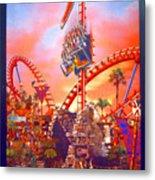Sheikra Ride Poster 3 Metal Print
