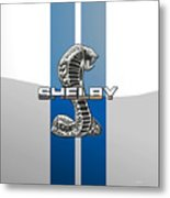 Shelby Cobra - 3d Badge Metal Print