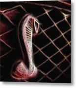 Shelby Cobra Grill Logo Metal Print by Tommy Anderson