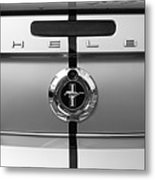 Shelby Ford Mustang Trunk Lid And Badge In Black And White Metal Print