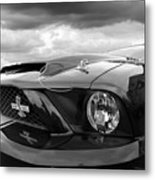 Shelby Super Snake Mustang Grille And Headlight Metal Print