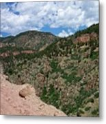 Shelf Road Drop Off Metal Print