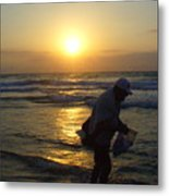 Shell Seeker Metal Print