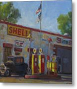 Shell Station Brown County Metal Print