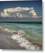 Shells, Surf And Summer Sky Metal Print