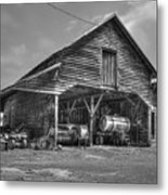 Shelter From The Storm 2 Wrayswood Barn Metal Print