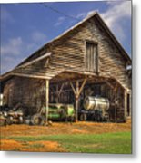 Shelter From The Storm Wrayswood Barn Metal Print