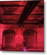 Shelter In The Tunnel Metal Print