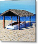 Sheltered Boat Metal Print