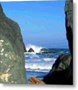 Sheltered From The Wind Metal Print