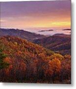 Shenandoah Autumn Sunrise Metal Print