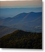Shenandoah Valley At Sunset Metal Print