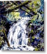 Shepherds Dell Falls Coumbia Gorge Or Metal Print