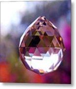 Sherbet Crystal Teardrop Metal Print