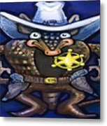 Sheriff Dillo Metal Print