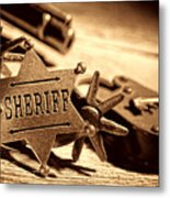 Sheriff Tools Metal Print