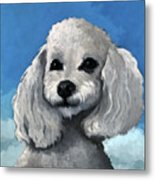 Sherman - Poodle Pet Portrait Metal Print