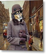 Shetland Sheepdog Art Canvas Print - Charleston Blue Metal Print
