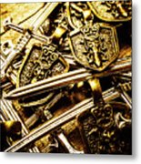 Shields And Swords Weapons Metal Print