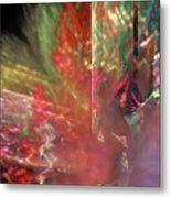 Shimmer Leaves Metal Print