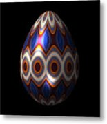 Shimmering Christmas Ornament Egg Metal Print