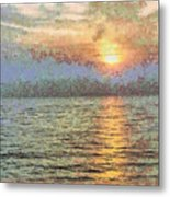 Shimmering Light Over The Water Metal Print