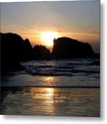 Shimmering Sands Sunset Metal Print