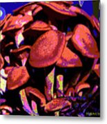 Shimmering Shrooms Metal Print
