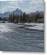 Shimmering Snake River And The Tetons Metal Print