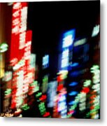 Shinjuku Abstraction Metal Print