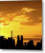 Shinjuku Sunrise Metal Print