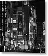 Shinjyuku At Night Metal Print