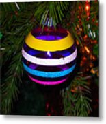 Shinny Brite Ornament Metal Print