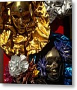 Shiny Masks in Venice Metal Print