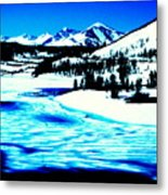 Shiny Snow Magic On Lake Metal Print