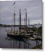 Ship At Dock. Metal Print