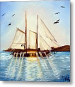 Ship At Mallory Square Metal Print