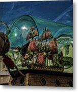 Ship In A Bottle Metal Print